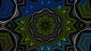 blue kaleidoscope wallpaper kaleidoscopic wallpaper seamless loop animation stock footage video