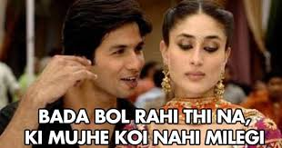 Kareena Kapoor Memes - shahid kapoor to kareena kapoor after his marriage jokofy pictures