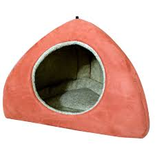 Dog Igloos Coral Faux Suede Dog Bed Igloo Large
