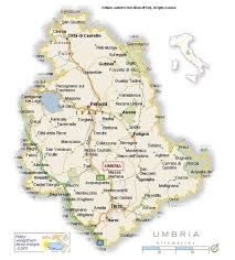 map of perugia a detailed map of umbria italy