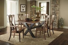 hardwood live edge dining table the log furniture store