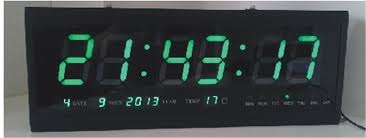 ht4819sm 9 aluminum large digital led wall clock big watch modern
