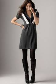 winning combo u003d dress tights boots finally fall fashion casual