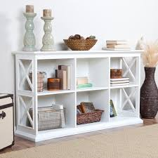 Hallway Table Modern White Painted Oak Wood Hallway Table With Cubism Shelves Of