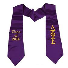 sorority graduation stoles graduation stole with embroidery emb something