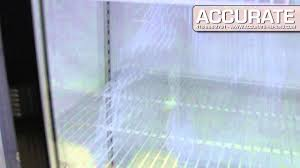 sliding glass door fridge kool it ksm42 double glass sliding door fridge new youtube