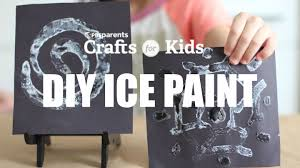 diy ice paint crafts for kids pbs parents youtube