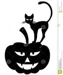 halloween silhouette vector halloween cat on pumpkin stock vector image 57913700