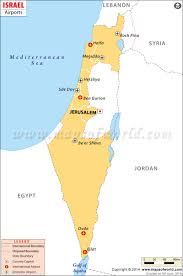 Washington Dc Airports Map by Airports In Israel Israel Airports Map