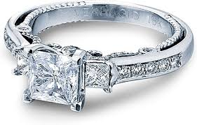 princess cut 3 engagement rings verragio 3 engagement ring in 14k white gold ins 7067p