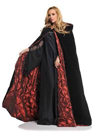deluxe velvet cape w quilted red lining