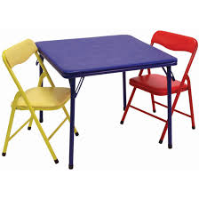childrens folding table and chair set showtime children s folding table chairs set by showtime at
