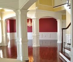 archways wainscot decorative columns painting job yelp