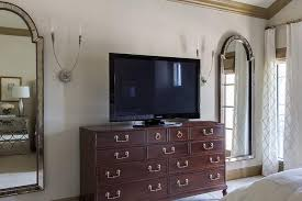 Dresser In Bedroom Tv On Dresser Transitional Bedroom Ej Interiors