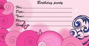 The Invitation Card Printable Birthday Invitation Themesflip Com