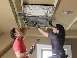 install a stamped tin ceiling tos diy