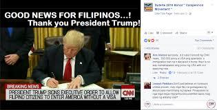 Filipino Meme - busted trump signed eo to let filipinos into us without visa