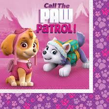 pink paw patrol lunch napkins 16 paw patrol
