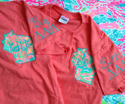 lilly pulitzer fabric state sorority big little embroidered