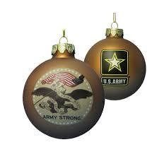 kurt adler 80 mm u s army gold glass ornament
