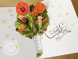 tutorial diy download flower bouquet pop up card create a