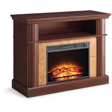 Electric Fireplace Heater Tv Stand Natural Briteton Gen Honey Marble Entertainment Center Electric