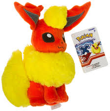 amazon com flareon 8 25 mini plush pokemon evolution of eevee