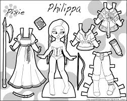 philippa fantasy pixie paper doll bw png 1500 1200 paper dolls