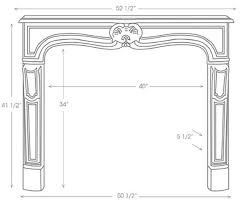 Standard Fireplace Dimensions by 99 Best French Fireplace Mantels Images On Pinterest Home Stone