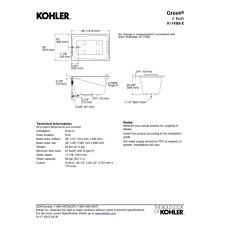 4ft Bathtubs Kohler K 1490 X 0 Greek White Soaking Tubs Tubs U0026 Whirlpools