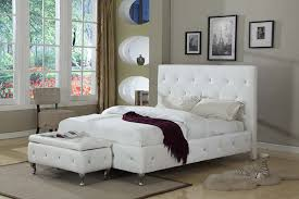 Platform Beds White Amazon Com Kings Brand Furniture White Tufted Design Faux Leather