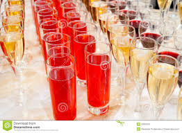 drinks on buffet table stock photo image 23935910