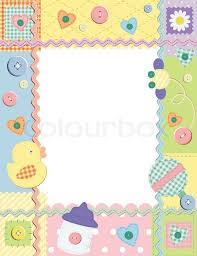 baby frame or card vector illustration stock vector colourbox