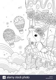lovely coloring page miss rabbit takes air balloon ride