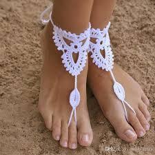 barefoot sandals wedding 2018 wedding knitted crochet barefoot sandals