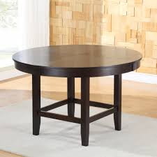 Round Dining Room Tables For 10 Modus Bossa 3 Piece Round Dining Room Set In Dark Chocolate