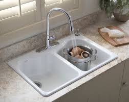 Faucets Kitchen Sink Kitchen How To Install A Kitchen Sink Double Bowl In White In