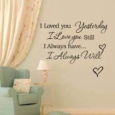 new design warm quote i love you home decal wall sticker removable