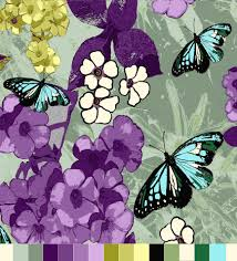 byrnes textile designer designing bacara butterfly