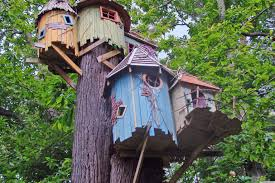 cute tree house designs between two trees in tree house designs