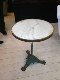 Cast Iron Bistro Table Marble Top Bistro Table With Green Cast Iron Base In From