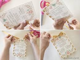 wedding invitations with ribbon ribbon stitch handmade wedding invitation