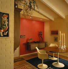 Dining Room Accent Wall by Gold Accent Wall Dining Room Midcentury With Modern Icons Makeup