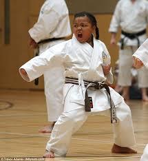 Nerd Karate Kid Meme - the youngest karate kid ever keychelle wins her black belt and