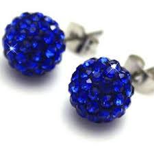royal blue earrings 10mm royal blue disco shamballa earrings shamballa je