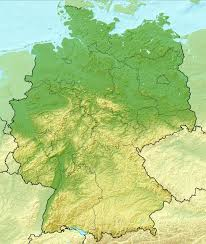 Maps Of Germany by Detailed Relief Map Of Germany Germany Europe Mapsland