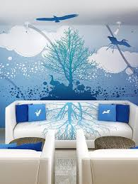 wall theme murals for walls cloud wall mural interior theme decoration by