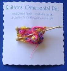 brooch for knitter ideal knitters gift knitted fabric