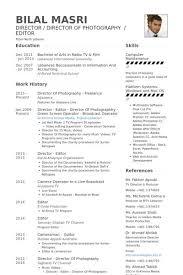 camera operator resume samples visualcv resume samples database