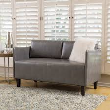 cayo faux leather loveseat sofa by christopher knight home free